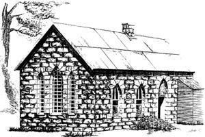 The first school in Wallerawang looked like a small country church building.